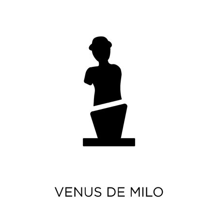 Venus de milo icon and symbol design. Simple element vector illustration on white background. Banque d'images - 111991303