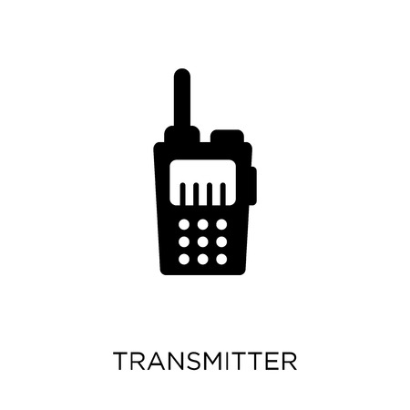 Transmitter icon. Transmitter symbol design from Communication collection. Simple element vector illustration on white background. Banque d'images - 111991307