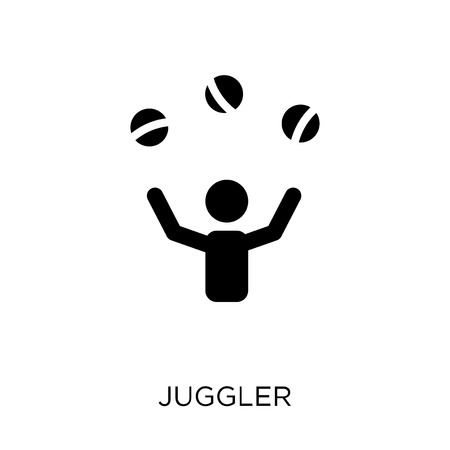 Juggler icon. Juggler symbol design from Circus collection. Simple element vector illustration on white background.