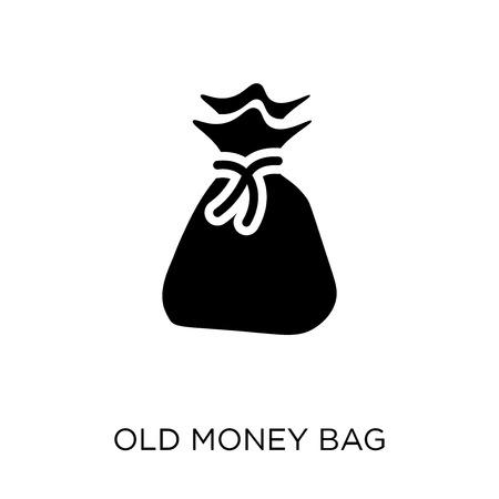 Old Money Bag icon. Old Money Bag symbol design from Desert collection. Simple element vector illustration on white background.