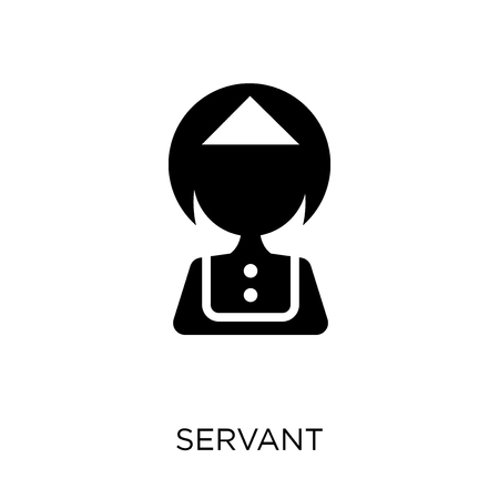 Servant icon. Servant symbol design. Simple element vector illustration on white background. Ilustração