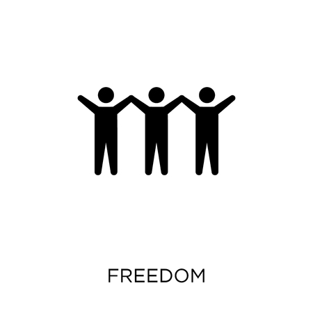 Freedom icon. Freedom symbol design from Political collection. Simple element vector illustration on white background. Çizim