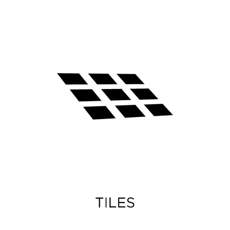 Tiles icon. Tiles symbol design from Construction collection. Simple element vector illustration on white background. Çizim