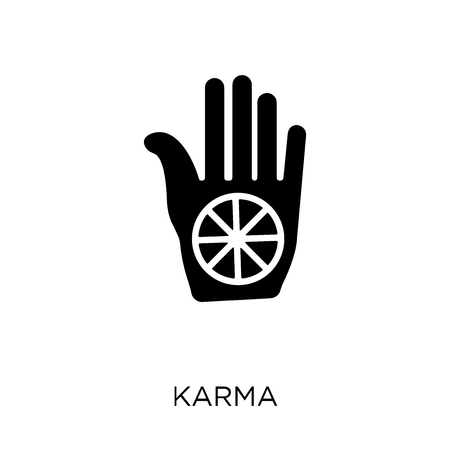 Karma icon. Karma symbol design from India collection. Simple element vector illustration on white background. Illustration