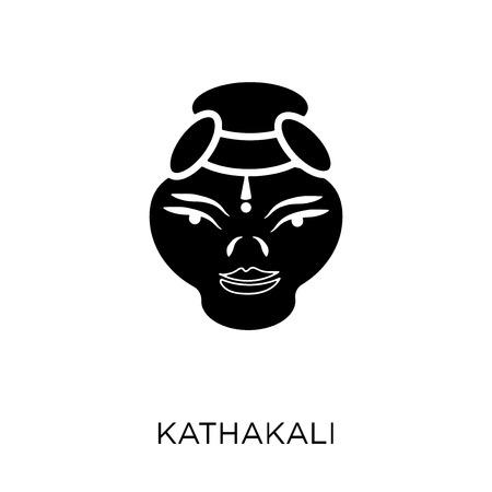 Kathakali icon. Kathakali symbol design from India collection. Simple element vector illustration on white background.