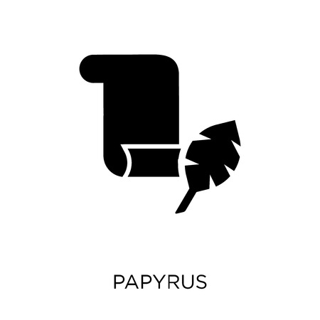 Papyrus icon. Papyrus symbol design. Simple element vector illustration on white background.