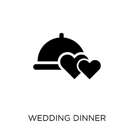 wedding Dinner icon. wedding Dinner symbol design from Wedding and love collection. Simple element vector illustration on white background. Standard-Bild - 111357622