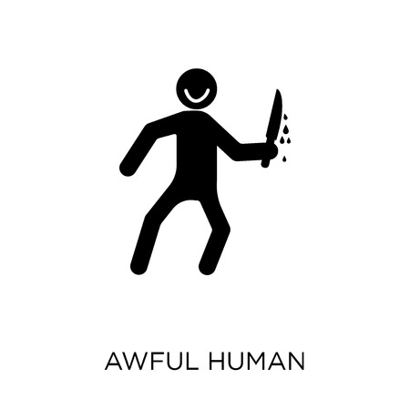 awful human icon. awful human symbol design from Feelings collection. Simple element vector illustration on white background.