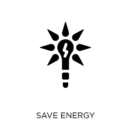 Save energy icon. Save energy symbol design from Ecology collection. Simple element vector illustration on white background.