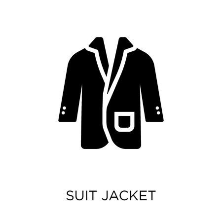 suit jacket  icon. suit jacket  symbol design from Clothes collection. Simple element vector illustration on white background.