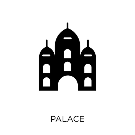 Palace icon and symbol design from Fairy tale collection. Simple element vector illustration on white background. Illusztráció