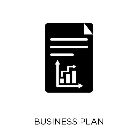 Business plan icon. Business plan symbol design from Business collection. Simple element vector illustration on white background.
