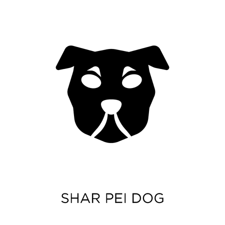Shar Pei dog icon. Shar Pei dog symbol design from Dogs collection. Simple element vector illustration on white background.