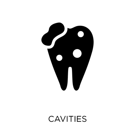 Cavities icon. Cavities symbol design from Dentist collection. Simple element vector illustration on white background.