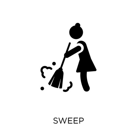 Sweep icon. Sweep symbol design from Cleaning collection. Simple element vector illustration on white background. Stock Illustratie