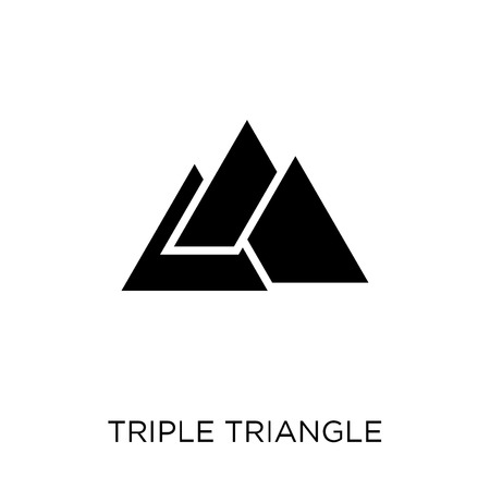 Triple triangle icon. Triple triangle symbol design from Geometry collection. Simple element vector illustration on white background.