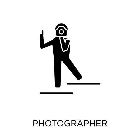 Photographer icon. Photographer symbol design from Professions collection. Simple element vector illustration on white background. Çizim