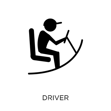 Driver icon. Driver symbol design from Professions collection. Simple element vector illustration on white background.