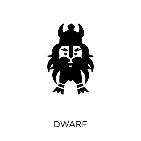 Dwarf icon. Dwarf symbol design from Fairy tale collection. Simple element vector illustration on white background.