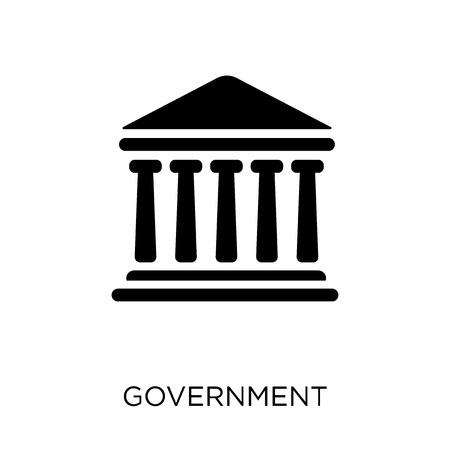 Icône du gouvernement. Conception de symbole de gouvernement de la collection des États-Unis d'Amérique. Illustration vectorielle élément simple sur fond blanc.