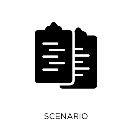 Scenario icon. Scenario symbol design from Cinema collection. Simple element vector illustration on white background.