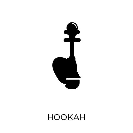 Hookah icon. Hookah symbol design from India collection. Simple element vector illustration on white background. Stock Vector - 112091162