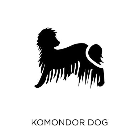Komondor dog icon. Komondor dog symbol design from Dogs collection. Simple element vector illustration on white background.
