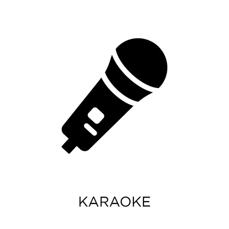 Karaoke-Symbol. Karaoke-Symboldesign aus der Weihnachtskollektion. Einfache Elementvektorillustration auf weißem Hintergrund.