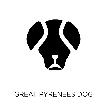 Great Pyrenees dog icon. Great Pyrenees dog symbol design from Dogs collection. Simple element vector illustration on white background. Ilustrace