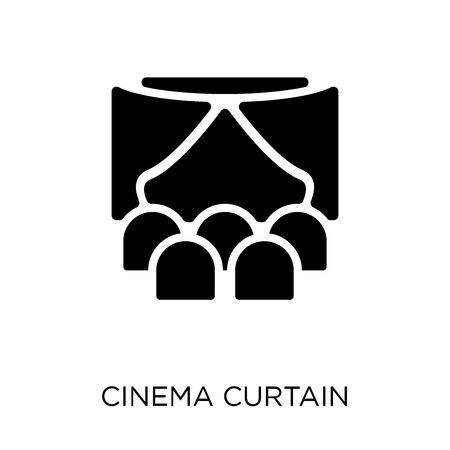 Cinema Curtain icon. Cinema Curtain symbol design from Cinema collection. Simple element vector illustration on white background.
