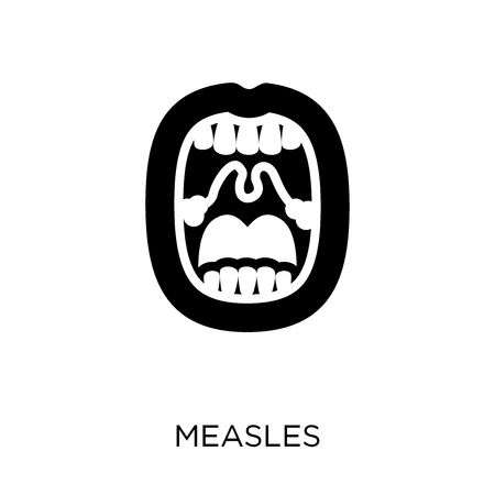 Measles icon. Measles symbol design from Diseases collection. Simple element vector illustration on white background.