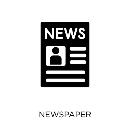 Newspaper icon. Newspaper symbol design from Communication collection. Simple element vector illustration on white background.