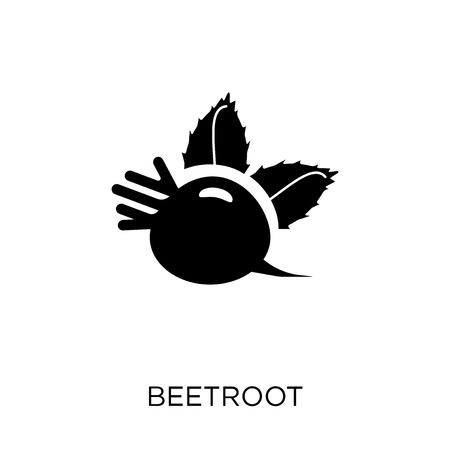 Beetroot icon. Beetroot symbol design from Fruit and vegetables collection. Simple element vector illustration on white background.