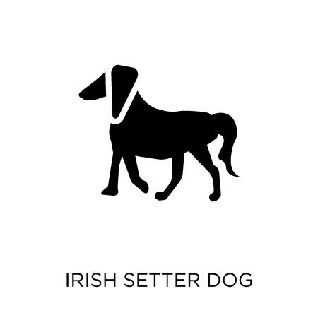 Irish Setter dog icon. Irish Setter dog symbol design from Dogs collection. Simple element vector illustration on white background.