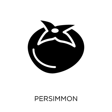 Persimmon icon. Persimmon symbol design from Fruit and vegetables collection. Simple element vector illustration on white background.