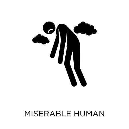 miserable human icon. miserable human symbol design from Feelings collection. Simple element vector illustration on white background. Vector Illustration