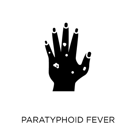 Paratyphoid fever icon. Paratyphoid fever symbol design from Diseases collection. Simple element vector illustration on white background.