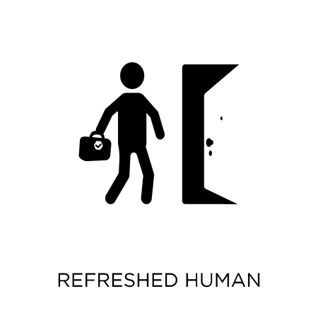 refreshed human icon. refreshed human symbol design from Feelings collection. Simple element vector illustration on white background.