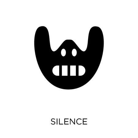 Silence icon. Silence symbol design from Cinema collection. Simple element vector illustration on white background. Stock Illustratie