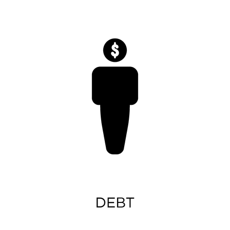 Debt icon. Debt symbol design from Business collection. Simple element vector illustration on white background.