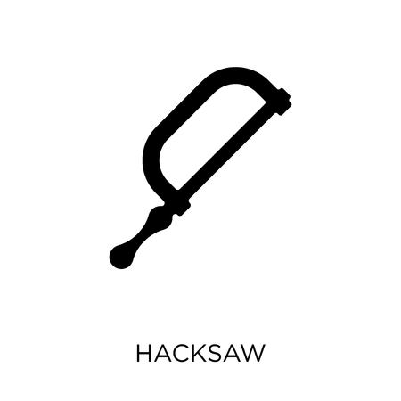 Hacksaw icon. Hacksaw symbol design from Construction collection. Simple element vector illustration on white background. Ilustracja