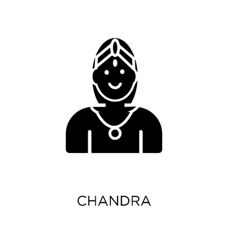 Chandra icon. Chandra symbol design from India collection. Simple element vector illustration on white background.