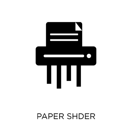 Paper shredder icon. Paper shredder symbol design from Business collection. Simple element vector illustration on white background.