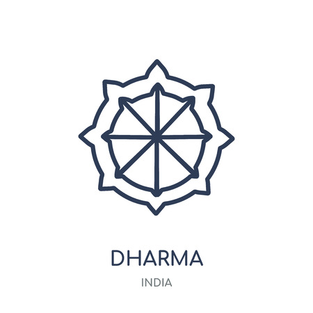 Dharma icon. Dharma linear symbol design from India collection. Simple outline element vector illustration on white background.