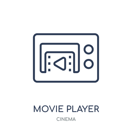 Movie player icon. Movie player linear symbol design from Cinema collection. Simple outline element vector illustration on white background.