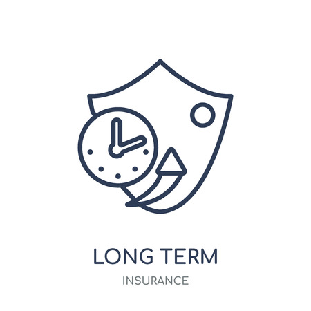 long term protection icon. long term protection linear symbol design from Insurance collection.  イラスト・ベクター素材