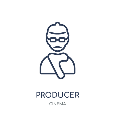producer icon. producer linear symbol design from Cinema collection. Simple outline element vector illustration on white background.