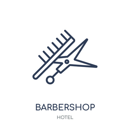 Barbershop icon. Barbershop linear symbol design from Hotel collection. Simple outline element vector illustration on white background.