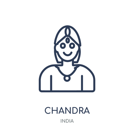 Chandra icon. Chandra linear symbol design from India collection. Simple outline element vector illustration on white background.