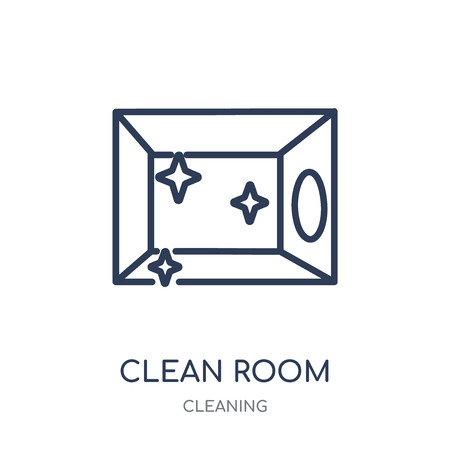 Clean Room icon. Clean Room linear symbol design from Cleaning collection. Simple outline element vector illustration on white background. Stock Illustratie